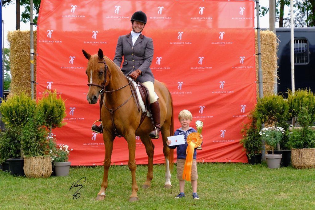 Ridden champion Arabian horse AJF